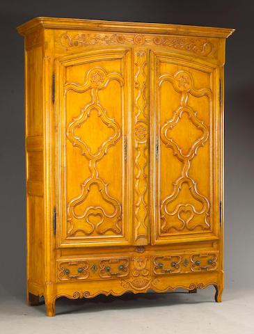 A Louis XV oak armoire
