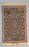 An Isphahan rug Persia size approximately 3ft 5in x 5ft 3in
