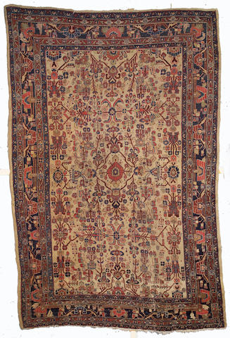 A Hamadan carpet size approximately 12ft 9in x 8ft 7in