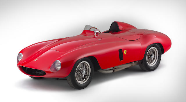 The Ex-Brussels Salon/John von Neumann/Phil Hill/ 'On the Beach' movie,1955 Ferrari 750 Monza Spider Corsa Sports-Racing Two-Seater  Chassis no. 0492M Engine no. 0492M