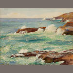Joseph Henry Sharp (1859-1953)  Crashing Waves 14 x 18 1/2in unframed