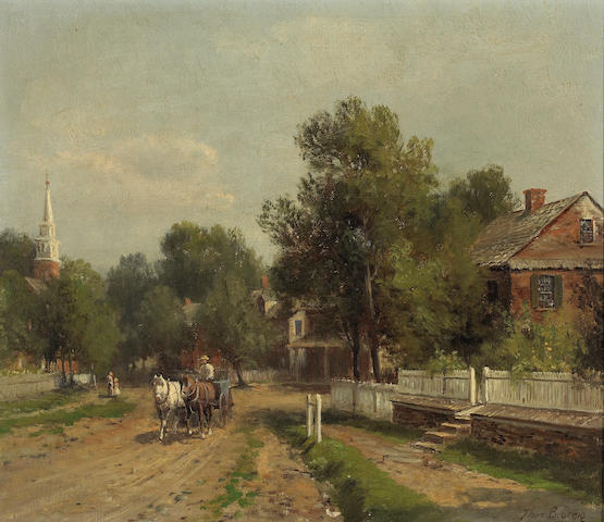 Thomas B. Craig (1849-1924) The Village Road (No. 5) 10 3/4 x 12 3/4in