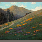 Jean Jacques Pfister (1878-1949) Mt. Tamalpais with Poppies 25 x 28in