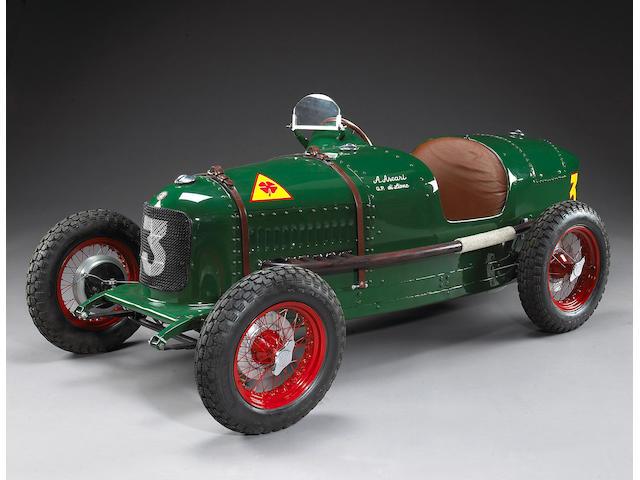 A fine 1:2 scale model of Alberto Ascari Grand Prix di Lione, Alfa Romeo P2,