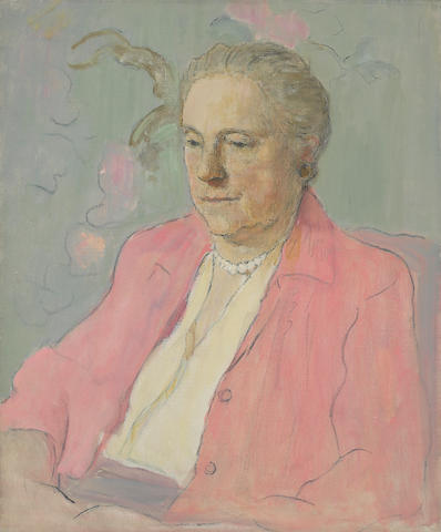 Clarence Hinkle (1880-1960) An Unfinished Portrait of Mrs. Hinkle, 1959 24 x 20in unframed