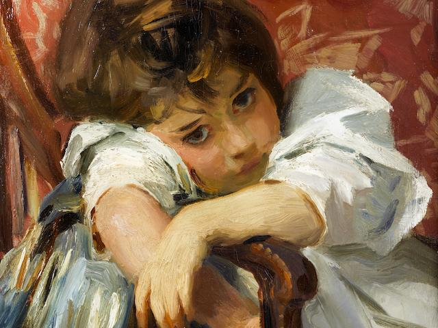 John Singer Sargent (1856-1925) Portrait of a Child 22 x 16in