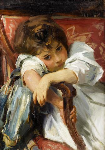 John Singer Sargent (1856-1925) Portrait of a Child 22 x 16in