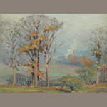 Robert A. Graham (1873-1946) Autumn Trees, 1912 7 1/2 x 10in
