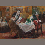 Robert Philipp (1895-1981) Restaurant, 1970 23 1/4 x 31 3/4in