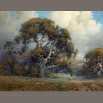Percy Gray (1869-1952) Cumulous Clouds Above The Old Oak Tree 15 3/4 x 19 3/4in