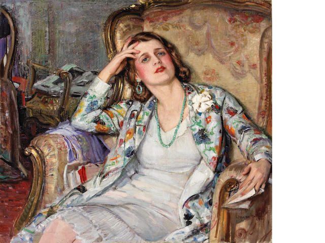 Joseph Kleitsch (1882-1931)  The Reverie 36 x 40 1/4in