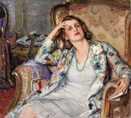 Joseph Kleitsch (1882-1931)  The Reverie 36 x 40 1/4in