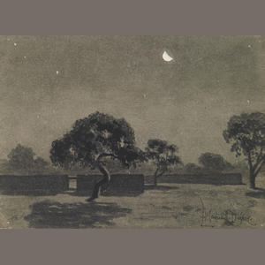 Maynard Dixon Bood (Nocturnal Landscape) watercolor on paper