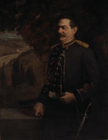 Jean Mannheim (1863-1945) A Portrait of an Officer 51 1/4 x 40in