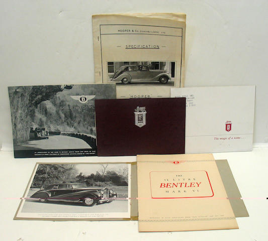 An assortment of Rolls-Royce and Bentley sales and promotional literature,