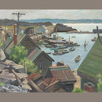 Junius James Allen (1898-1962) Cape Anne Boat Basin 16 x 20in