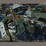 John R. Grabach (1886-1981) The Dockyards 25 x 30 1/2in