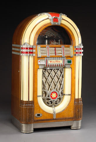 A Wurlitzer jukebox 58 x 31 x 21in