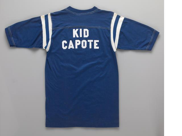 "Truman Capote Blue T-Shirt ""Kid Capote"""
