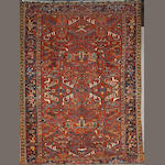 A Heriz carpet size approximately 10ft 2in x 8ft