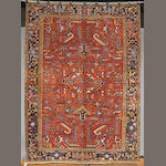 A Heriz carpet size approximately 10ft x 7ft 3in