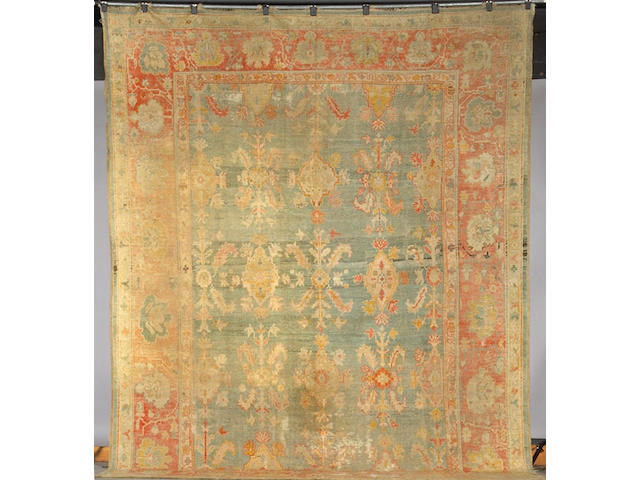 A Sultanabad carpet size approximately 13ft 10in x 10ft 10in
