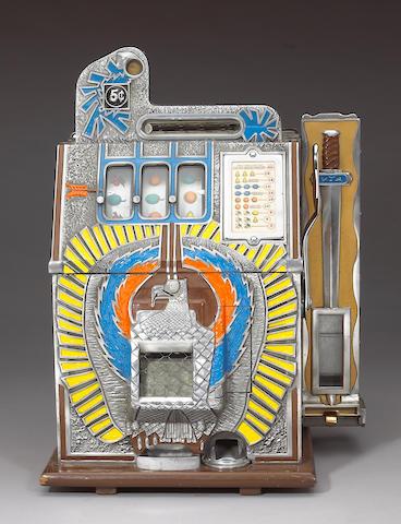 A Mills nickel slot machine 20 x 14 x 8in