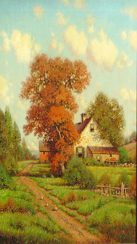 George W. Drew (American 1875-1968) Summer in the country 24 1/4 x 18 1/4in