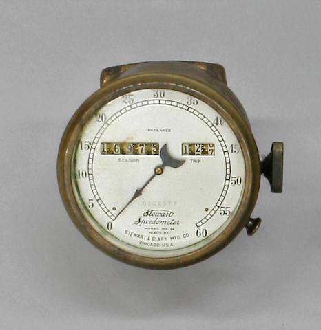 A Stewart speedometer,  bezel 3in diameter