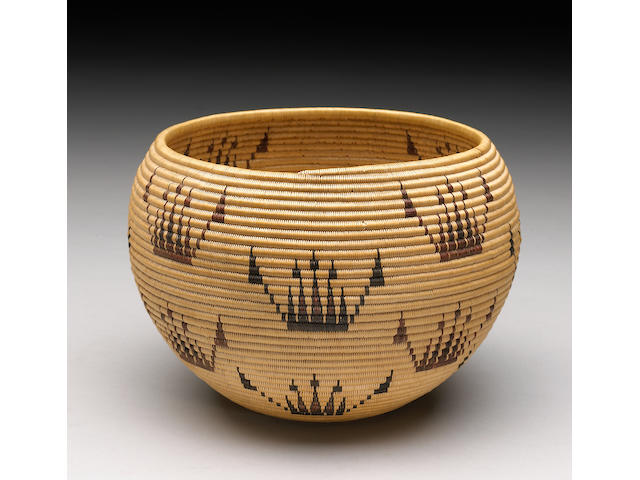 A Washoe polychrome basket