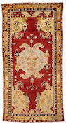 A Ghiordes carpet West Turkey size approximately 4ft 5in x 8ft 7in