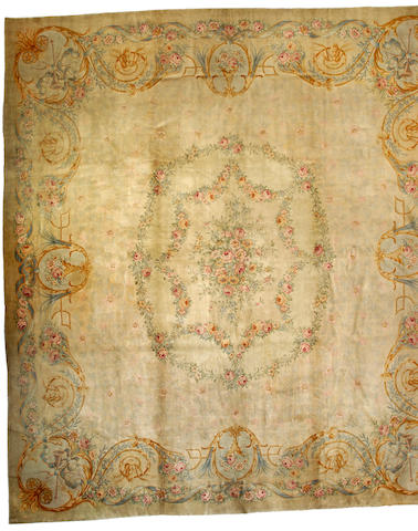 A Savonnerie carpet France size approximately 15ft 3in x 17ft