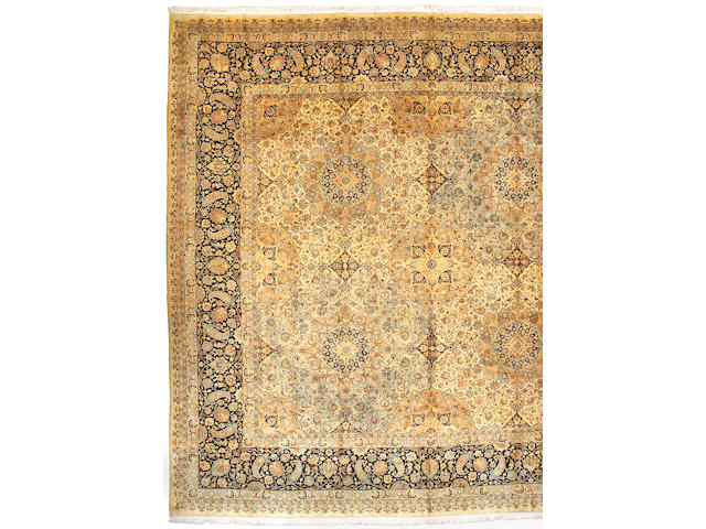 A Khorasan carpet Northeast Persia size approximately 19ft 2in x 19ft 4in