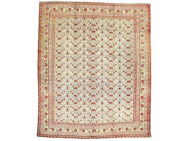 An Agra carpet India size approximately 11ft 4in x 13ft 10in