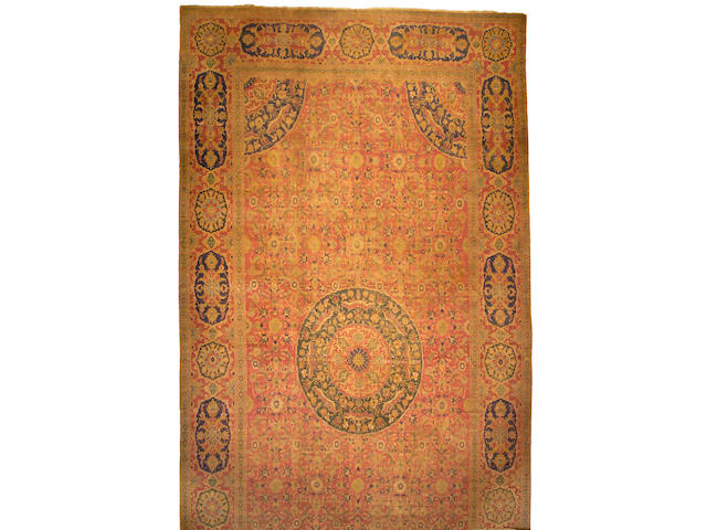 A Cairene carpet Egypt size approximately 12ft 7in x 25ft 4in