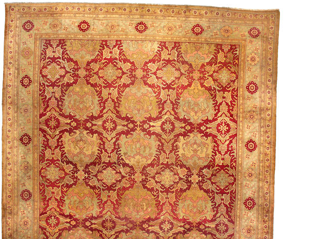 An Oushak carpet West Anatolia size approximately 15ft 1in x 26ft