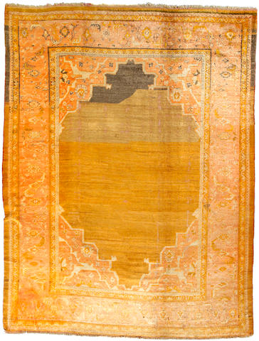 An Angora Oushak carpet West Anatolia size approximately 9ft x 12ft 8in