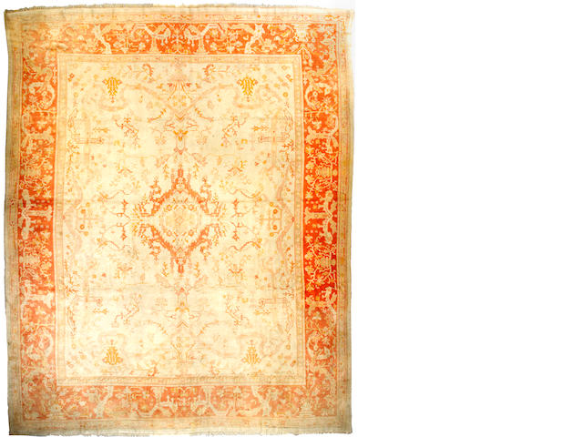 An Oushak carpet West Anatolia size approximately 14ft 2in x 17ft 8in