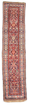 A Kurdish runner Northwest Persia size approximately 3ft 4in x 13ft 10in