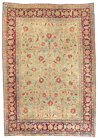 A Yazd carpet Central Persia size approximately 9ft 7in x 13ft 7in