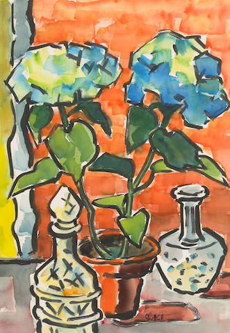 Karl Schmidt-Rottluff Still Life with Flowers 27 x 20in