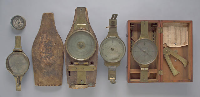A cased surveyor's vernier compass -Select US Arms Type-