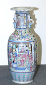 A large famille rose enameled porcelain vase Late 19th Century