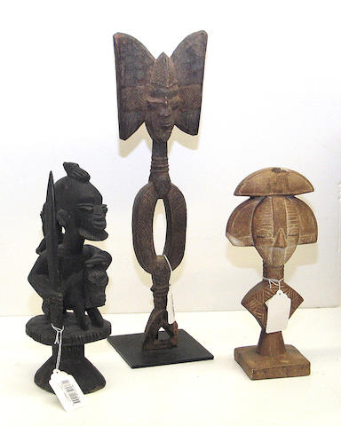 Two Yoruba carvings and a reproduction reliquary