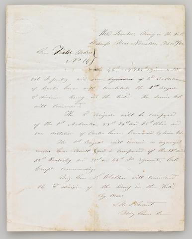 GRANT, ULYSSES S.  1822-1885.