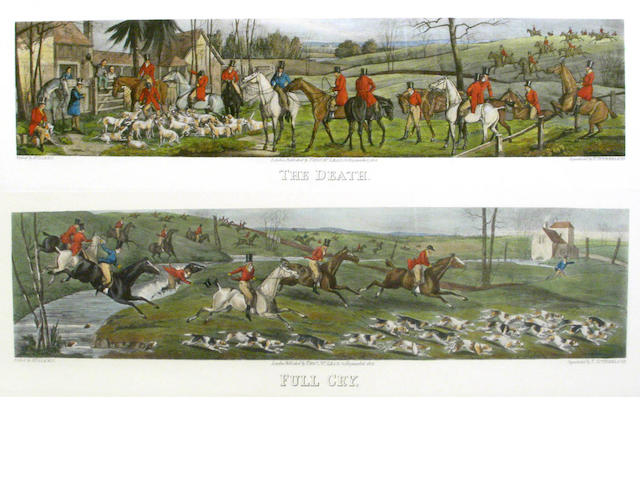 After Henry Alken by Thomas Sutherland; Hunting Scenes: Meeting at Cover, Breaking Cover, Full Cry,