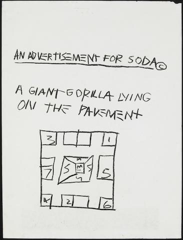 Jean-Michel Basquiat Advertisement for Soda