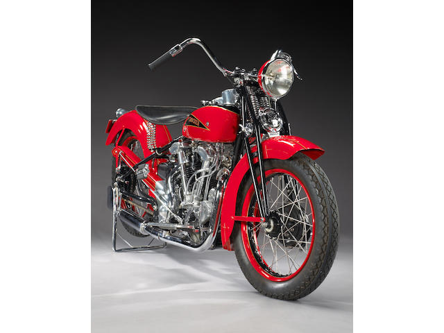 From Silverman Museum Racing,1937 Crocker 'Hemi-Head' V-Twin Motorcycle Engine no. 376119
