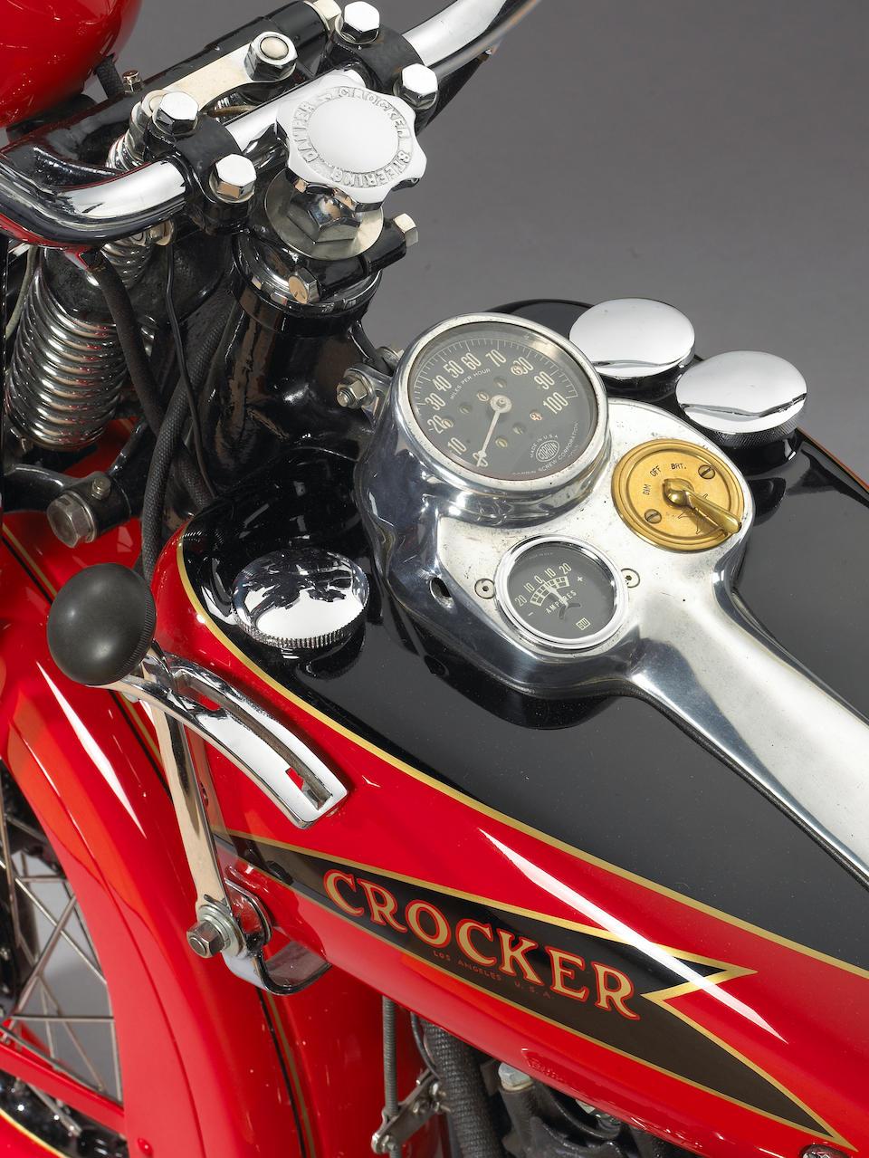From Silverman Museum Racing,1937 Crocker 'Hemi-Head' V-Twin Motorcycle Engine no. 376119