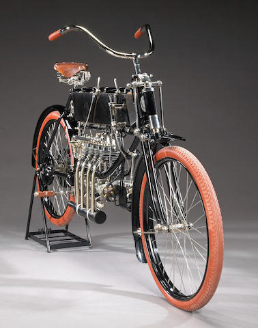 From Silverman Museum Racing,1904/05 FN Four-Cylinder Engine no. 1538